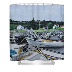 Grandfathers Wharf Shower Curtain