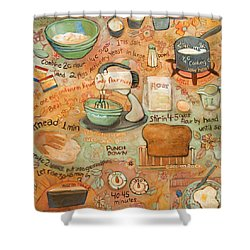 Grandmas Bread Recipe Shower Curtain by Jen Norton