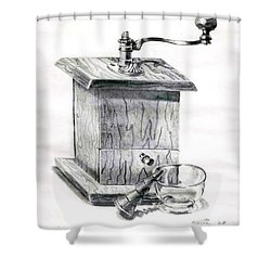 Grandma's Coffee Grinder Shower Curtain