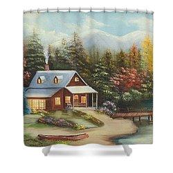 Grandpa's Cabin Shower Curtain