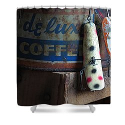 Old Fishing Lure Shower Curtain