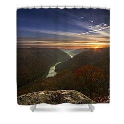 Grandview Sunrise Shower Curtain