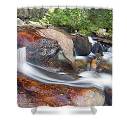 Shower Curtain featuring the photograph Granite Falls by Gary Lengyel