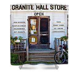Shower Curtain featuring the photograph Granite Hall Store  by Susan Cole Kelly