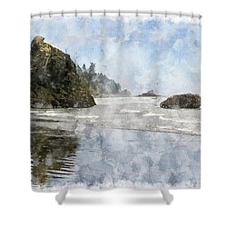 Granite Stacks Olympic Park Shower Curtain by Peter J Sucy