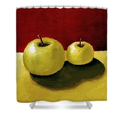 Granny Smith Apples Shower Curtain by Michelle Calkins