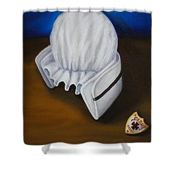 Shower Curtain featuring the painting Grant Hospital School Of Nursing by Marlyn Boyd