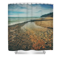 Grant Park - Lake Michigan Beach Shower Curtain by Jennifer Rondinelli Reilly - Fine Art Photography