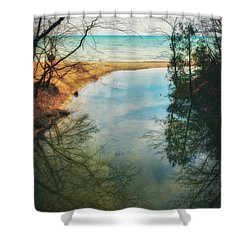 Grant Park - Lake Michigan Shoreline Shower Curtain by Jennifer Rondinelli Reilly - Fine Art Photography