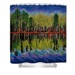 Grant's Lake Reflections Shower Curtain