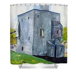 Granuaile's Castle Behind The Hill Shower Curtain