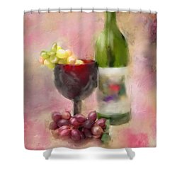 Shower Curtain featuring the photograph Grape Essence by Mary Timman