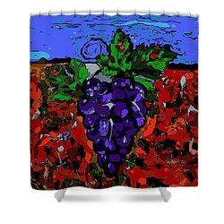 Grape Jazz Digital Shower Curtain
