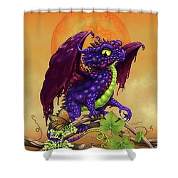 Shower Curtain featuring the digital art Grape Jelly Dragon by Stanley Morrison