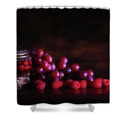 Grape Raspberry Shower Curtain by Tom Mc Nemar