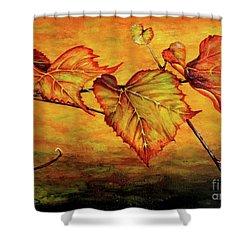 Grape Vine Shower Curtain by Judy Kirouac