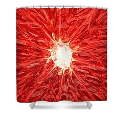 Grapefruit Close-up Shower Curtain
