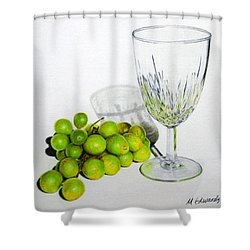 Grapes And Crystal Shower Curtain