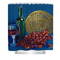 Grapes And Wine Shower Curtain