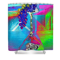 Grapes And Wine Gloss Shower Curtain