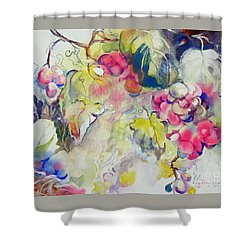 Grapes In Season Shower Curtain