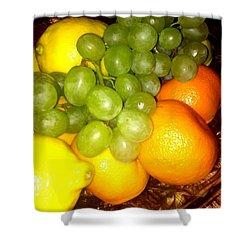 Grapes, Mandarins, Lemons Shower Curtain