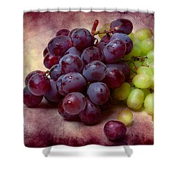 Shower Curtain featuring the photograph Grapes Red And Green by Alexander Senin