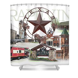 Grapevine Texas Shower Curtain