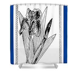 Graphic Iris Shower Curtain