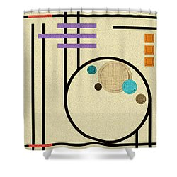 Graphics In The Sand Shower Curtain by Tara Hutton