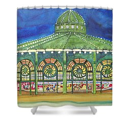 Shower Curtain featuring the painting Grasping The Memories by Patricia Arroyo