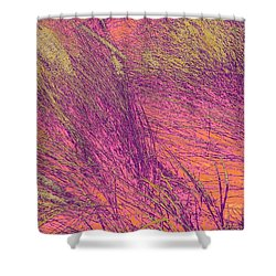 Grass Abstract 3 Shower Curtain