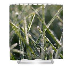 Grass Bokeh Shower Curtain by Nikki McInnes