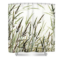 Shower Curtain featuring the painting Grass Design by James Williamson