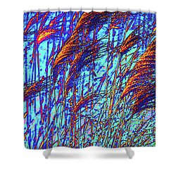 Grass On Fire Shower Curtain by Onyonet  Photo Studios