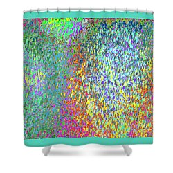 Grass On The Wall Shower Curtain by Expressionistart studio Priscilla Batzell