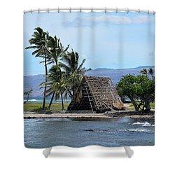 Shower Curtain featuring the photograph Grass Shack by Pamela Walton