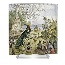Grasshopper And Ant Shower Curtain by Granger