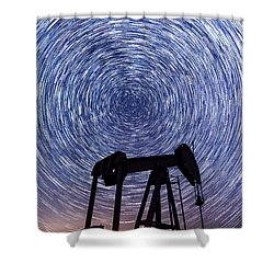 Grasshopper Star Trail Shower Curtain