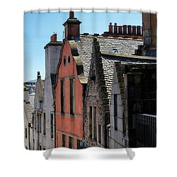 Shower Curtain featuring the photograph Grassmarket In Edinburgh, Scotland by Jeremy Lavender Photography
