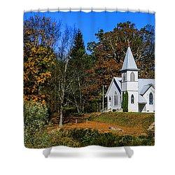 Grassy Creek Methodist Church Shower Curtain