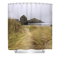 Grassy Dunes Shower Curtain by Kristina Rinell