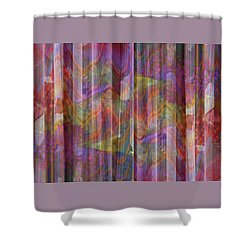 Grate Art 4 - Flowing Floral Fabric - Photograph Manipulation Shower Curtain