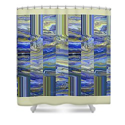 Grate Art - Blues And Greens Shower Curtain