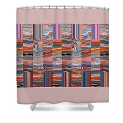 Grate Art - Earth Tones - Abstract Photography Shower Curtain