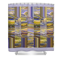 Shower Curtain featuring the photograph Grate Art - Purples And Yellows by Brooks Garten Hauschild