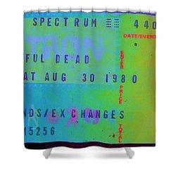 Grateful Dead - Ticket Stub Shower Curtain by Susan Carella