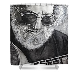 Grateful Dude Shower Curtain by Eric Dee