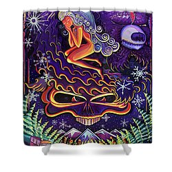 Grateful Nights Shower Curtain