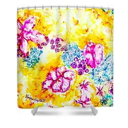 Gratitude Blooms Shower Curtain